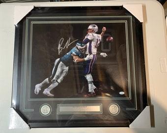 Tom Brady Super Bowl LII 52 Champions 16x20 Football Photo JSA COA Autographed//Signed Brandon Graham Philadelphia Eagles Spotlight Game Winning Strip Sack Fumble vs