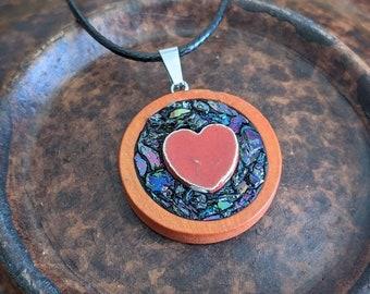 Micro Mosaic - Mystic - Heart - Mosaic Pendant
