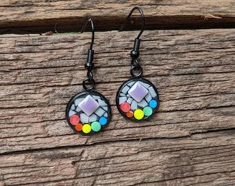Pride Earrings - Dangle Set in Black