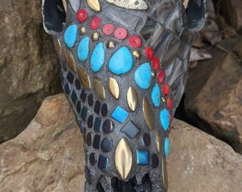 Mosaic Deer Skull - She Rides from the West
