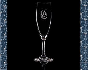 GERMAN SHEPHERD Personalised Engraved GIN Glass FREE ENGRAVING Gift ALSATIAN