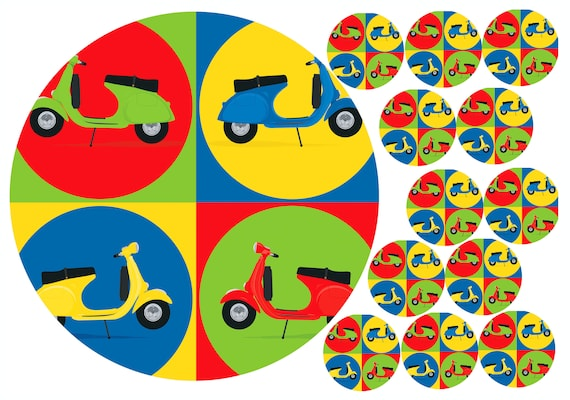 15 x PRECUT MOTORBIKE ICING//RICE//WAFER PAPER CUP CAKE TOPPERS//2 INCH