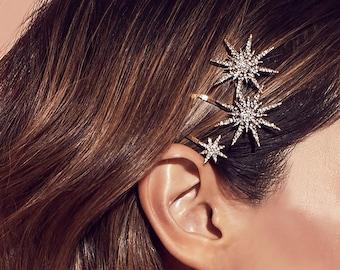 Starburst Barrette, Barrette, Barrettes Clips, Hair Accessories, Hair Pin, Hair Clips, Pearl Hair Clip, Pearl Hair Accessories, Hair Gift