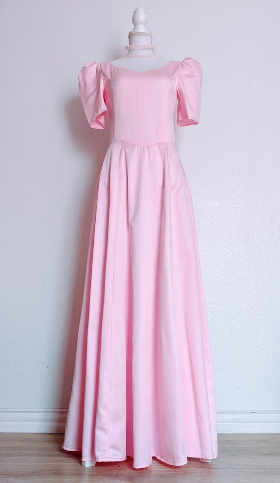 Vintage 1980s Pretty in Pink Dress