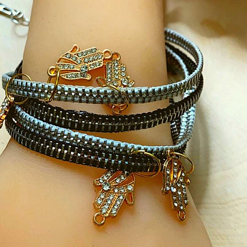 Amazing Zipper style Bracelets with 3 loops  Bracelets Necklaces Earrings Rings Handmade