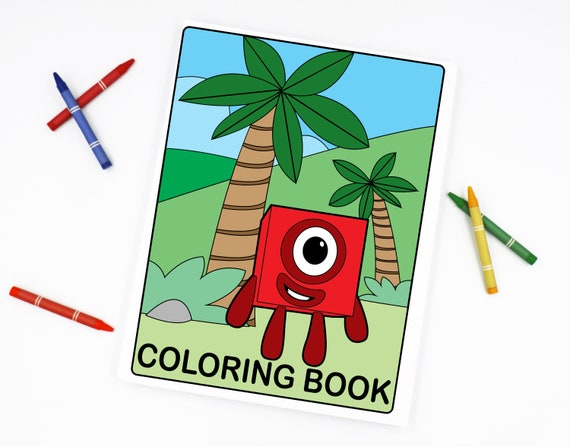 Numberblocks Coloring Book 1 To 20 Coloring Pages As Instant Etsy