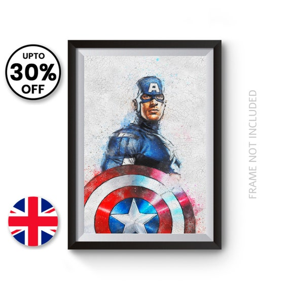 Iron Man Abstract Wall Art Print Poster The Avengers 100/% Cotton Movie Print