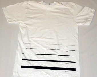 Line Point Size T-shirt