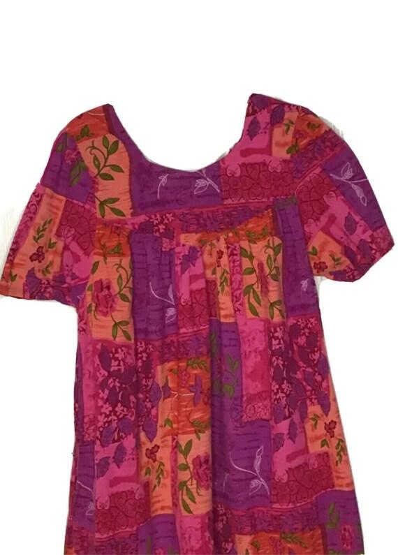 Phases Pink Floral Print Dress Muu Muu House Patio