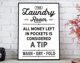 Laundry Room Decor, Funny Laundry Room Sign, Utility Room Decor Printable, Digital Download