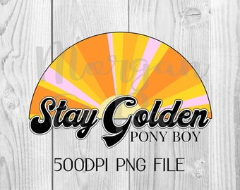 Stay Golden Quote Etsy Its earnest, emotional tone resonated deeply with teenagers… probably because its author was one. etsy