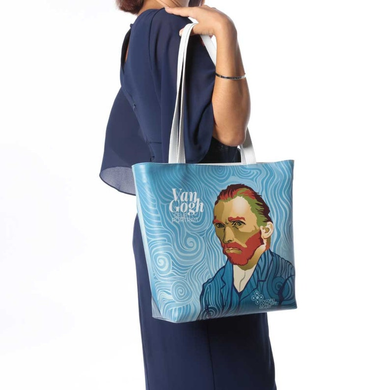 Bag Van Gogh Trapeze-Shaped Faux Leather