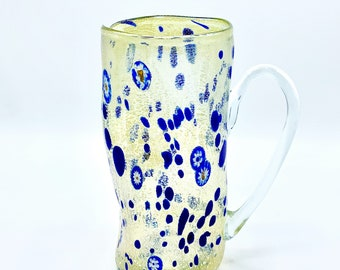 Murano Carafe – Macchie – Large Size Blue Color