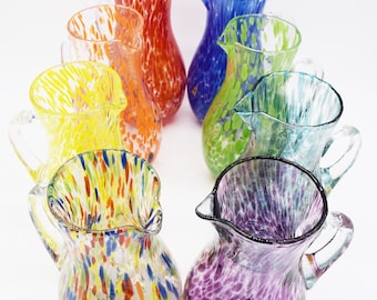 Murano Glass - Drink Glasses - Carafe - Murano Goths - Multi Color Glasses - Murano Glasses - Handcrafted Goths