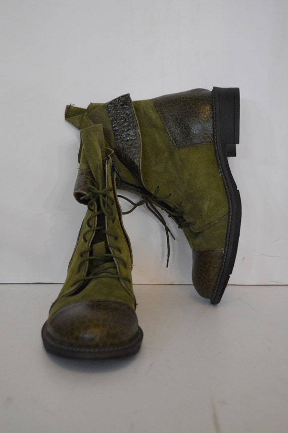 Extravagant Casual Olive Green Boots