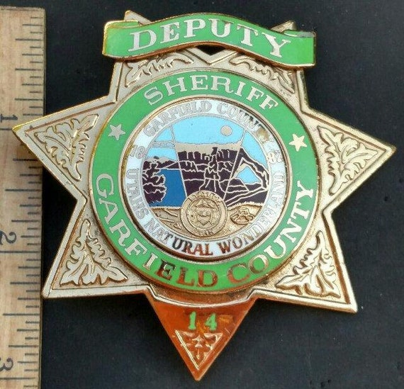 Deputy Sheriff Garfield County Utah 14 Hallmarked Bnb Phoenix Etsy