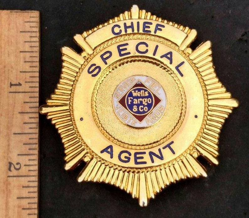 Chief Special Agent Wells Fargo & Co. Badge | Etsy