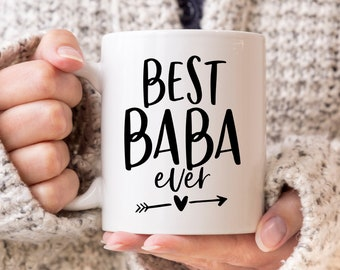 Baba Gift Baba Shark Mug Custom Baba Mugs Mug With Kids Names Baba Est Coffee