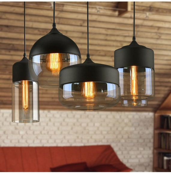 Pendant Light Farmhouse Lighting Kitchen Rustic Pendant Etsy