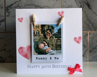POLAROID PEG PHOTO cards - Personalise for free / photo / peg / birthday / any occasion / Father's Day