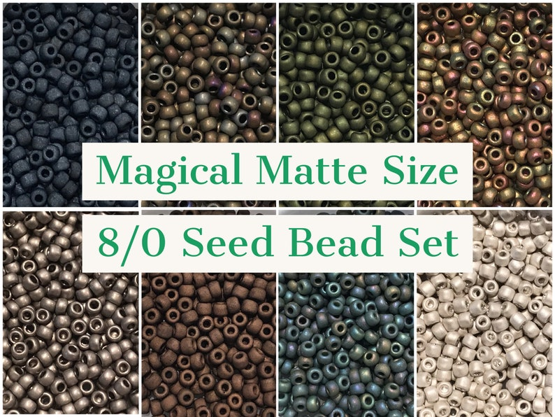 10g each Magical Matte Size 80 Seed Bead Color Set 8 colors