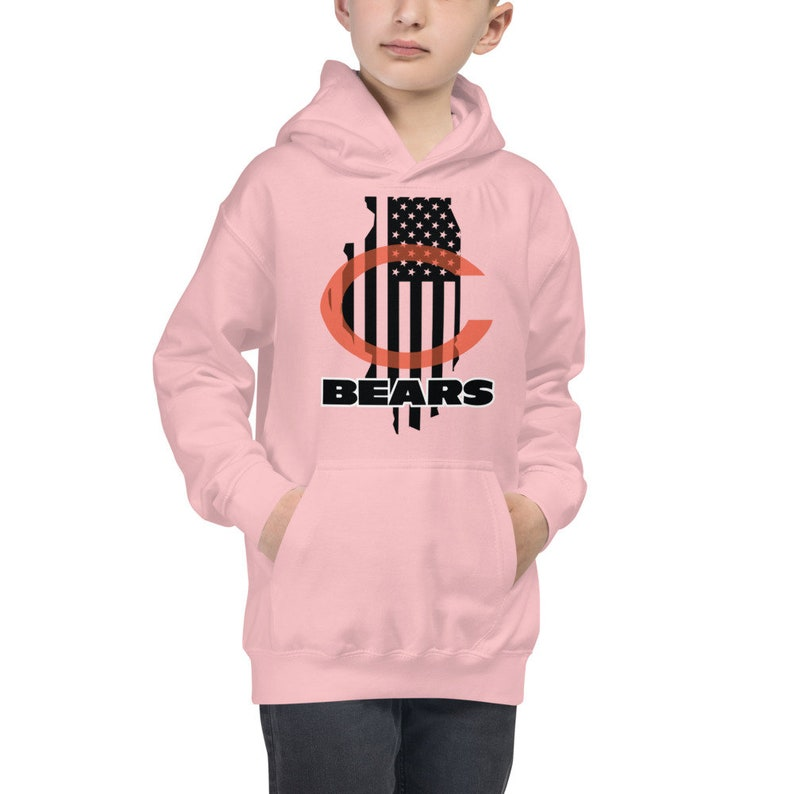 Chicago Bears Football Kids Flag Hoodie