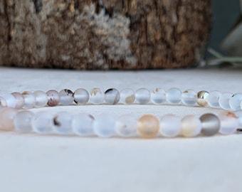 Dendritic Opal Beaded Bracelet Nuggets Elastic 18-20 cm Beauty Self-Worth