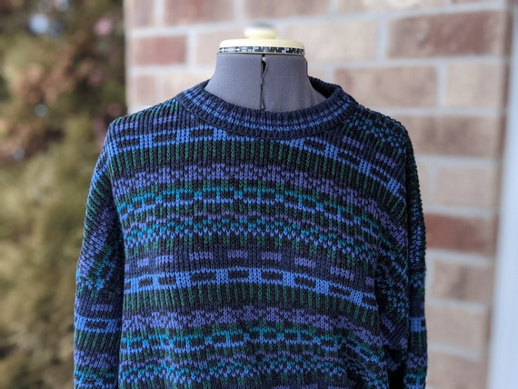 Vintage 80s- Men's Sweater- Woolworth- Knit Sweate