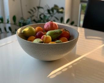 Concrete bowl fruit bowl Nut bowl Handmade unique decoration plate