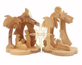 Nativity Set, Christmas Ornaments Scene, Holy Family Figurine, Christmas Decoration, Christmas Tree Decor for Kids Room, Holiday Gifts