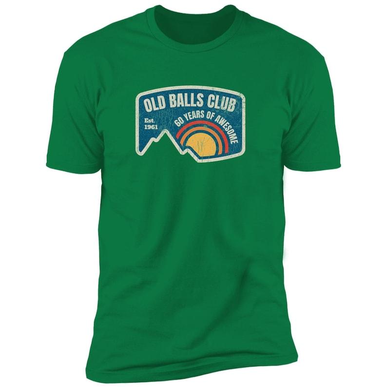 Mens Old Balls Club 60th Birthday Gift Retro 1961 60 Years Awesome T-Shirt