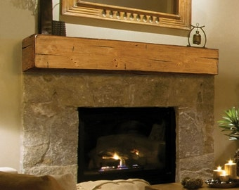Reclaimed Solid Wood Fireplace Mantels