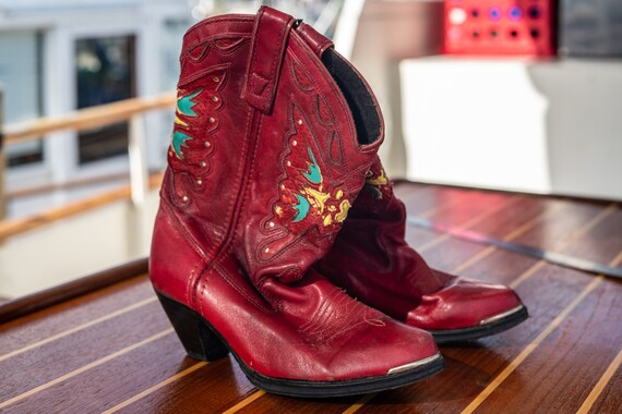 Capezio Red Western Boots S6.5 - resoled rare find