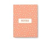 Peach Polka Dot Journal