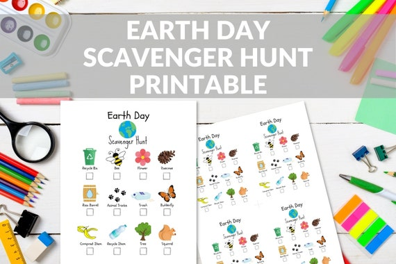 Earth Day Scavenger Hunt For Kids Printable Earth Day