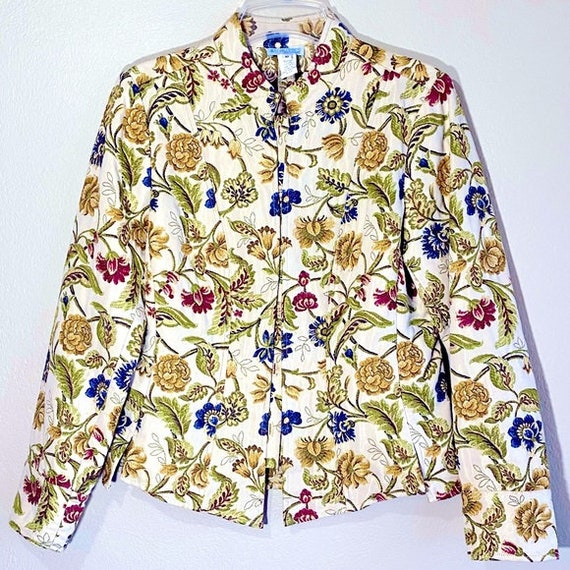 Floral Jacket Victorian Floral Pattern Embroidered