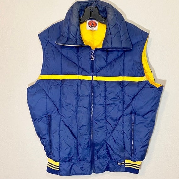Vintage Down Vest Feather Insulated Puffer 80s 90s