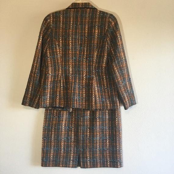 Vintage Tweed Suit Set Blazer Skirt Cami Matching… - image 6