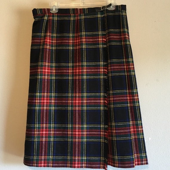 Irish Tartan Kilt Skirt Pleated Ireland Red Plaid
