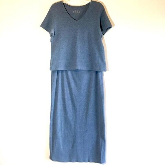 Vintage Matching Set Minimalist 2 Piece Top Skirt