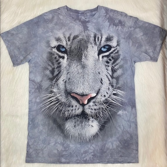 Tiger T-shirt Graphic T shirt White Tie Dyed