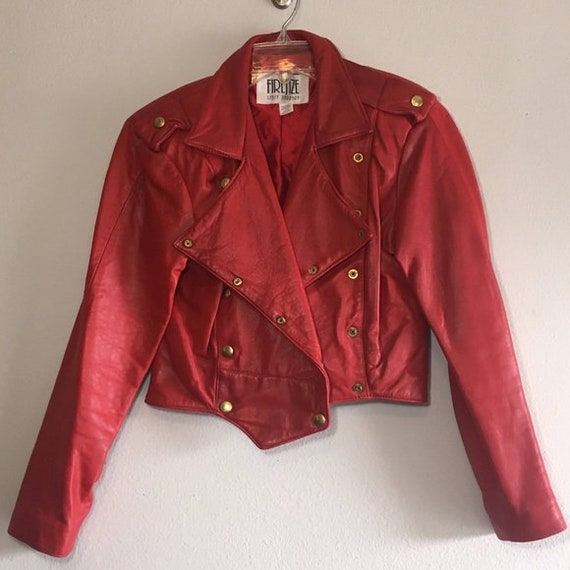 Vintage Leather Jacket Biker Jacket FIRENZE Croppe