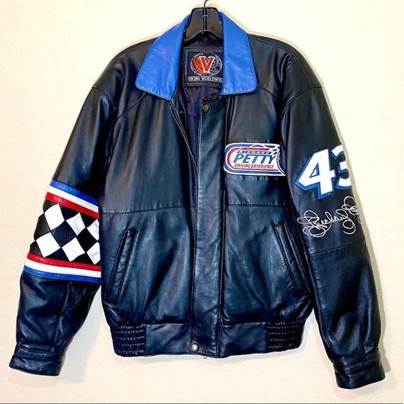 Nascar Leather Jacket Richard Petty Coat Patches