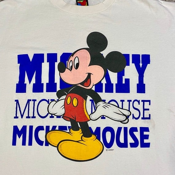 Vintage Mickey Mouse T Shirt Graphic Disney Tee - image 4
