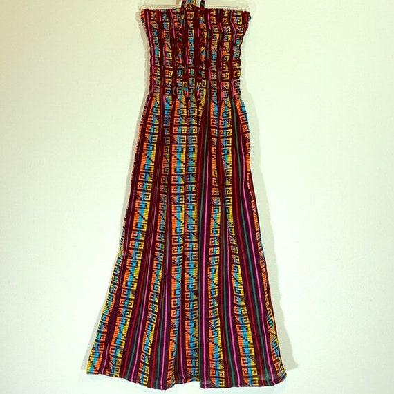 Bohemian Vintage Dress Ethnic African Hippy Print