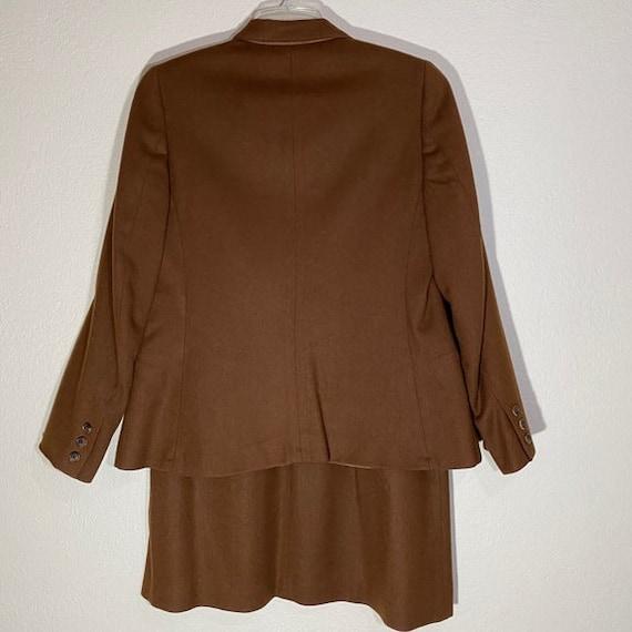 Wool Blazer Skirt Set Pleated Midi Matching Suit - image 9