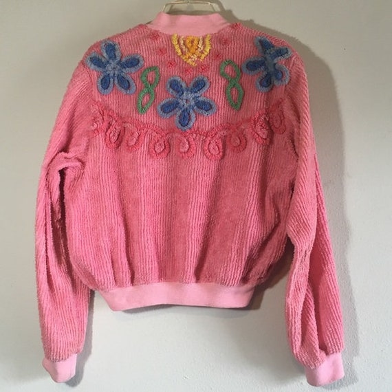 Vintage Track Jacket French Terry Pink Floral