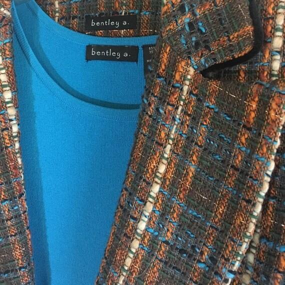 Vintage Tweed Suit Set Blazer Skirt Cami Matching… - image 2