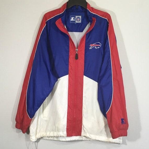 NFL 90s Buffalo Bills Jacket Football Windbreaker