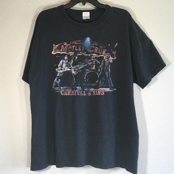 Motley Crue Band Tee T Shirt Graphic Rocker Nikki